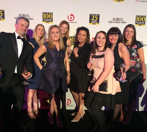 Covéa Insurance team celebrate Times Top 100 success
