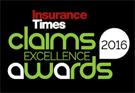 Insurance Times claims excellence awards 2016 graphic