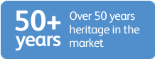 Over 50 years heritage in the market