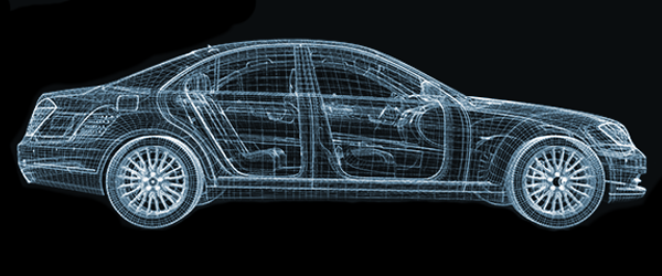 blueprint picture of a car