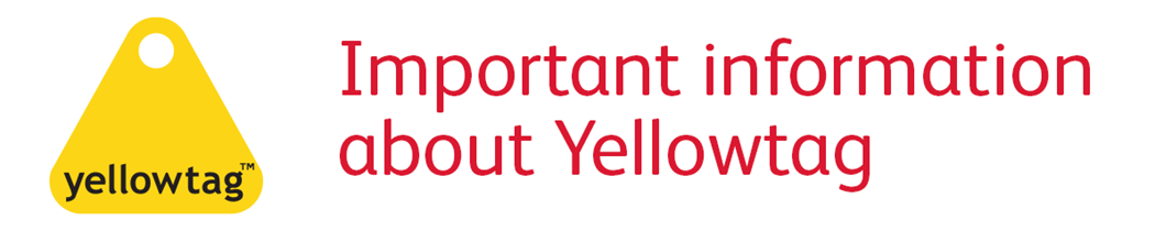 important information about yellowtag